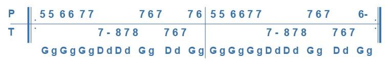 Variation avec triolets de la première phrase de l'avant deux de travers.