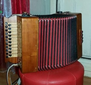 Accordéon diatonique Bernard Loffet d'occasion.