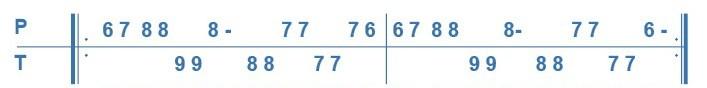 Cours 2 d'accordéon diatonique, deuxième phrase de l'avant deux de travers, exercice numéro 5.