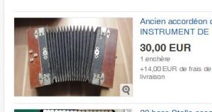 Accordéon diatonique d'occasion pas cher sur ebay.